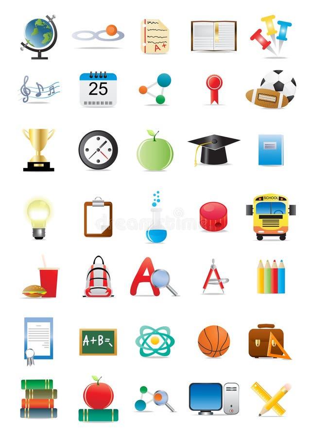 edukacyjne ikony ilustracja wektor