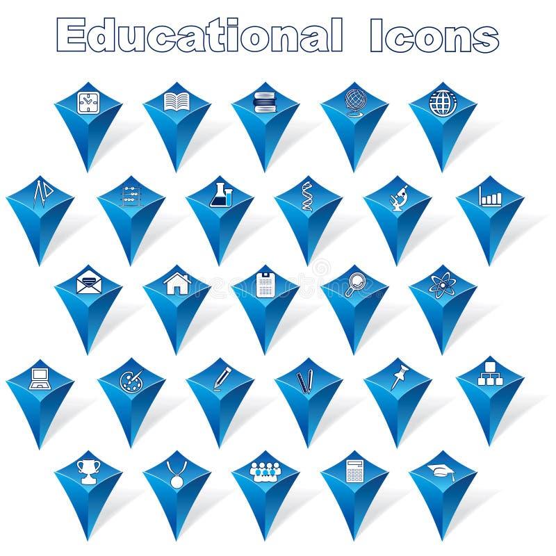Edukacyjne ikony royalty ilustracja