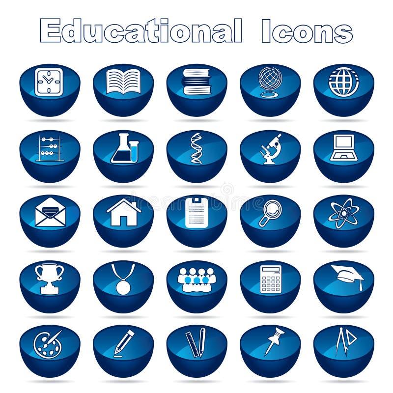 Edukacyjne ikony ilustracji