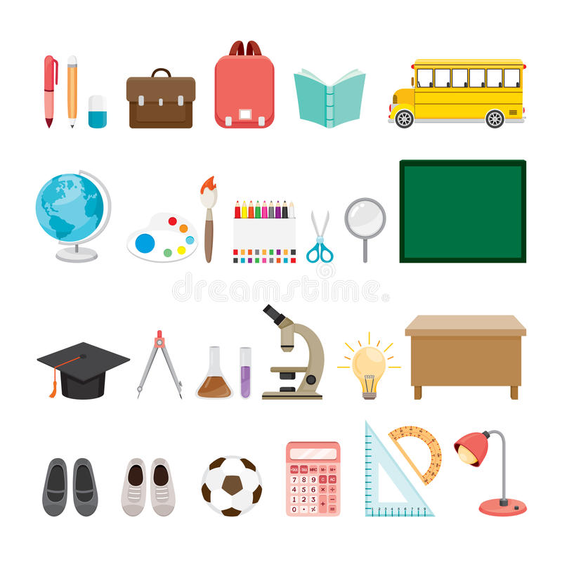 Edukacyjne instrument ikony Ustawiać royalty ilustracja