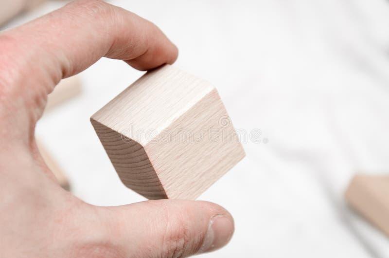 Edukacyjni bloki robić naturalny drewno zdjęcia royalty free