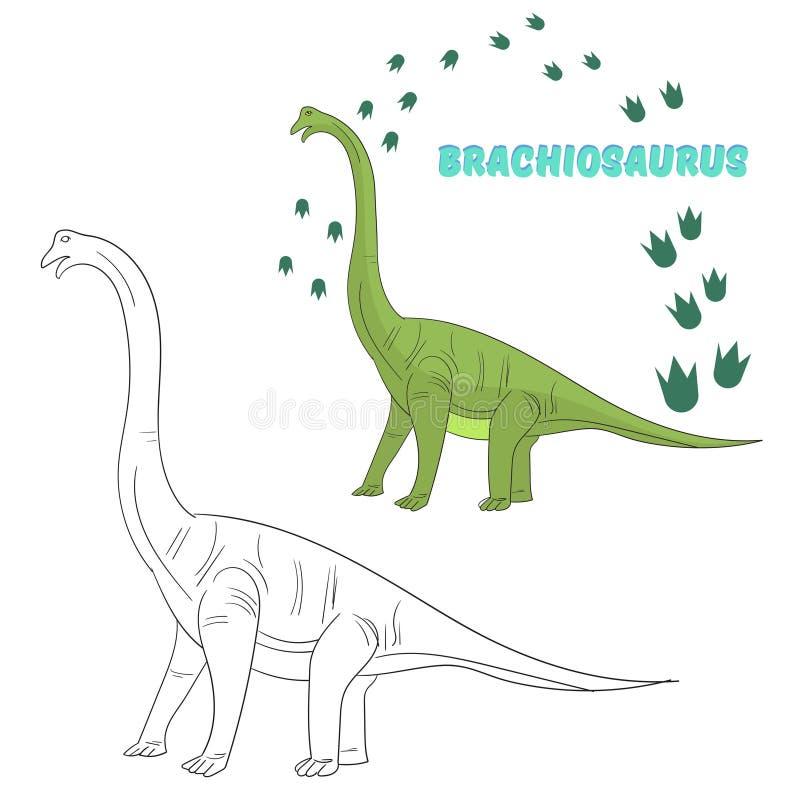 Edukacyjny gemowy kolorystyki książki dinosaura wektor ilustracja wektor