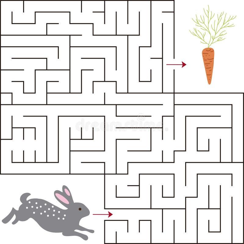 Edukacyjny matematycznie gra Dla dzieciaków labirynt gra Wektorowa szablon strona z grze zdjęcie stock