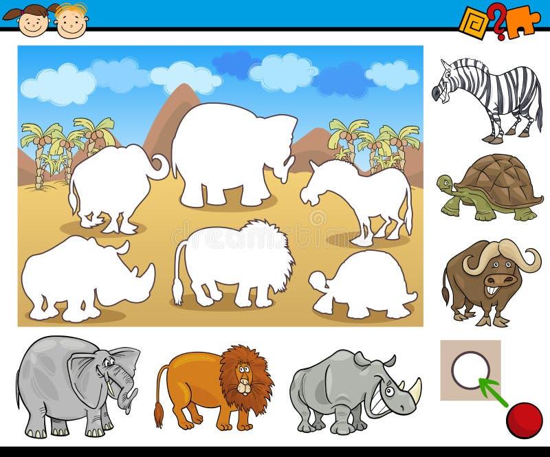 Edukacyjny zadanie dla dzieci royalty ilustracja