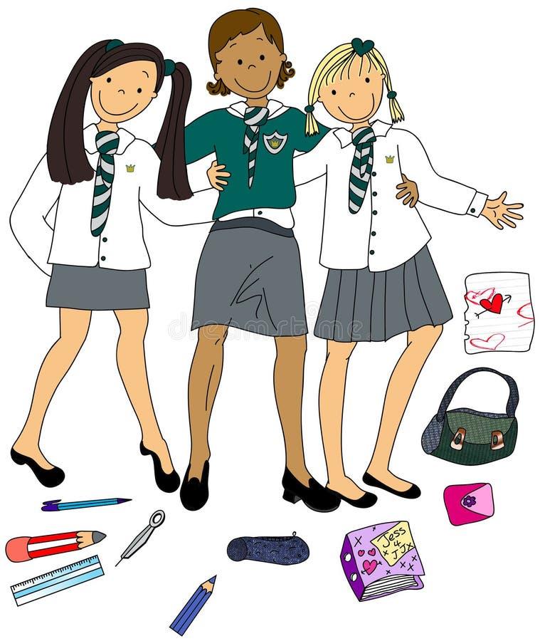 Eduque meninas ilustração do vetor