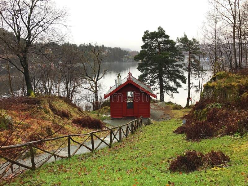 Edvard Grieg's小屋 库存图片
