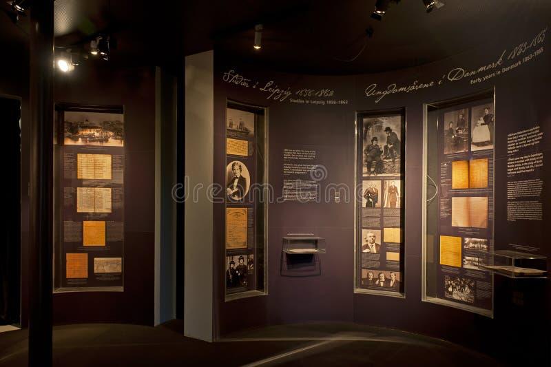 Edvard Grieg Museum Troldhaugen i Bergen arkivbild