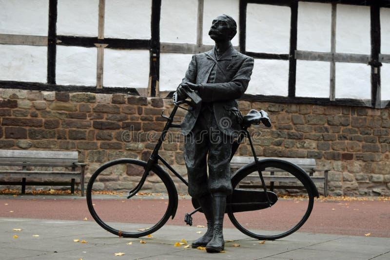 Edward Elgar Statue, Hereford-Kathedrale, Herefordshire stockbild