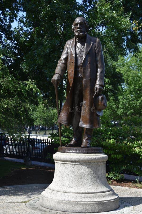 Edward Everett Hale Statue au jardin public à Boston image libre de droits