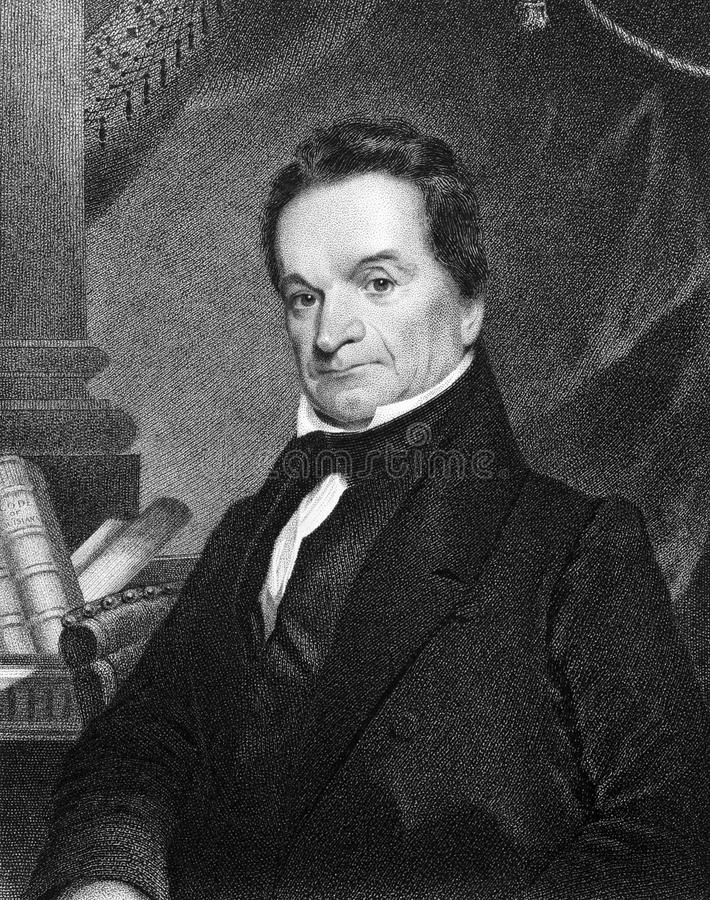 Edward Livingston. (1764-1836) on engraving from 1834. American jurist and statesman. Engraved by J.B Longacre and published in ''National Portrait Gallery of stock photo