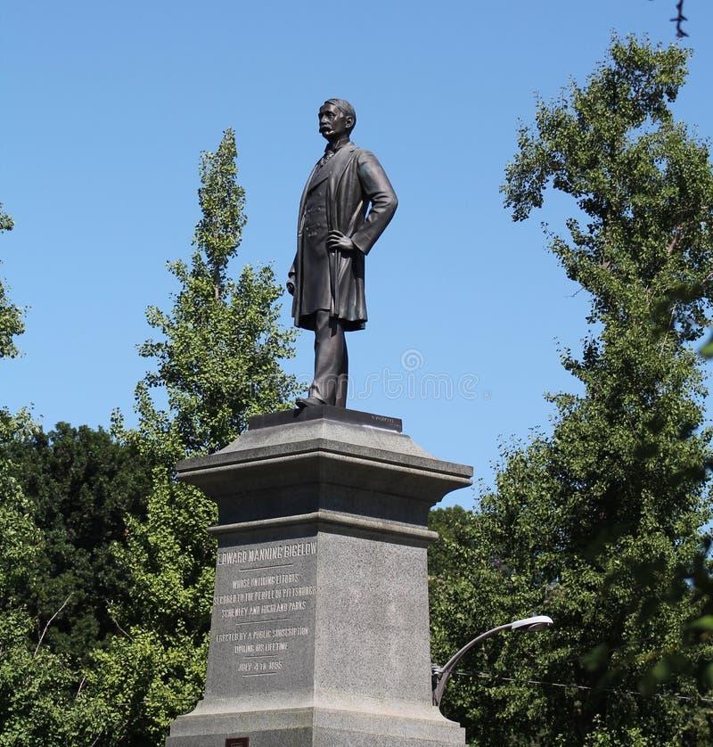 Edward Manning Bigelow Statue imagenes de archivo