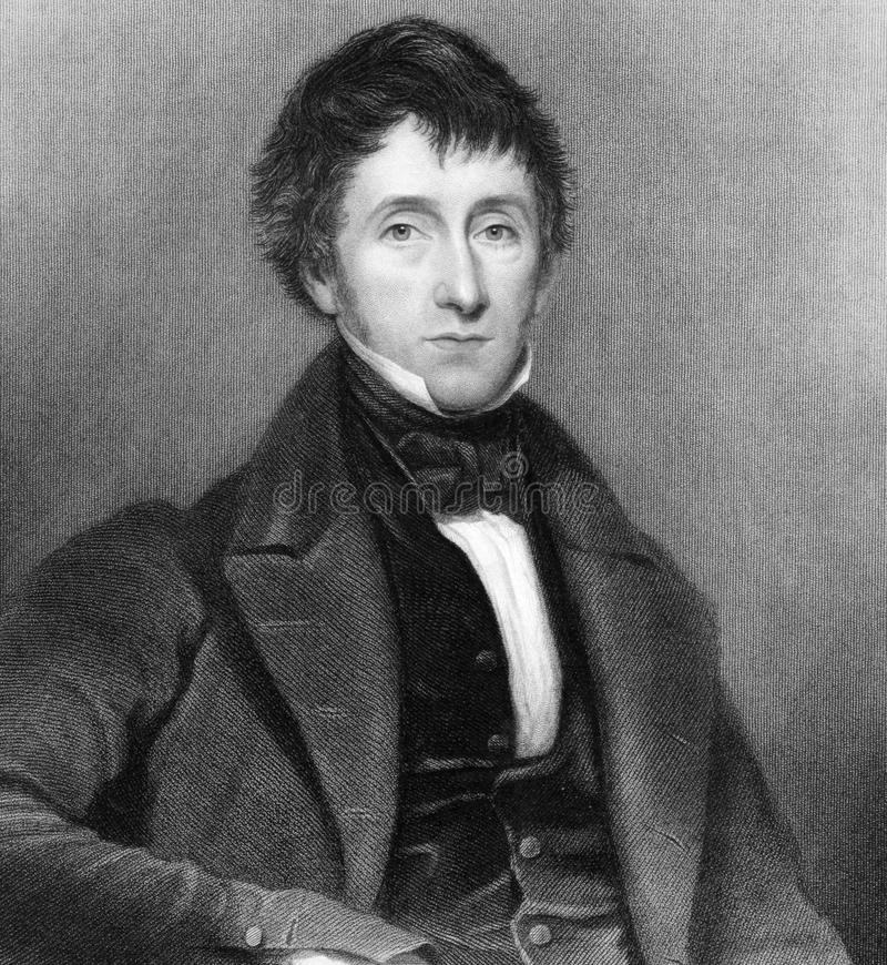 Edward Sugden. Edward Burtenshaw Sugden, 1st Baron St Leonards (1781-1875) on engraving from 1837. British lawyer, judge and Conservative politician. Engraved by royalty free stock image