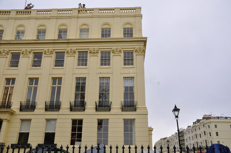 Edwardian豪宅布赖顿英国 库存图片