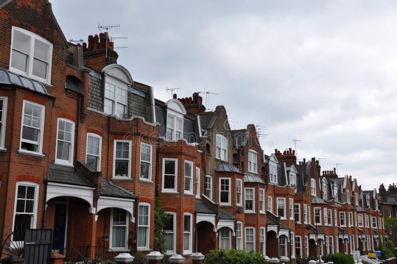 Edwardian расквартировывает Лондон Великобританию стоковая фотография rf