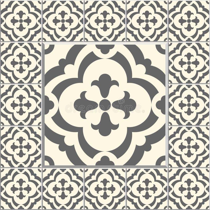 Edwardian Floor Tiles Patern Stock Vector Illustration Of