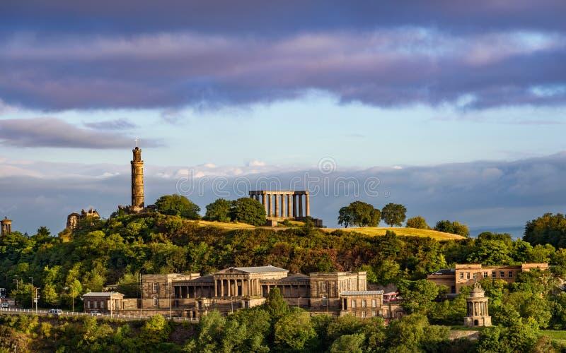 Edynburg Calton wzgórze obrazy royalty free