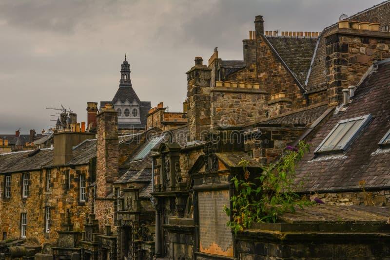 Edynburg cmentarz obraz royalty free
