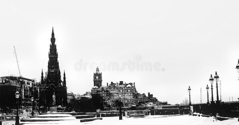 Edynburg gothic zdjęcia royalty free
