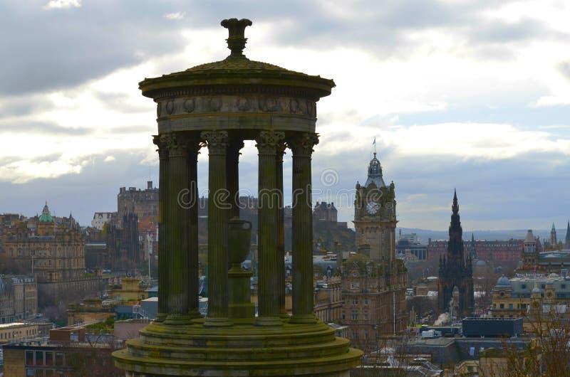 Edynburg miasto od Calton wzgórza obrazy stock