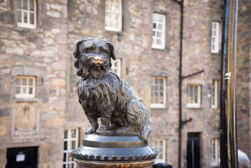 EDYNBURG, statua Greyfriars Bobby zdjęcie royalty free