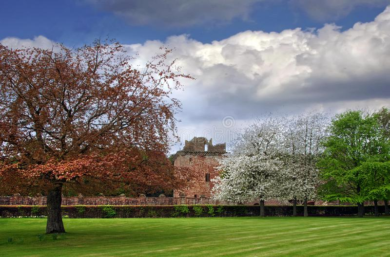 Edzell Castle on a Spring Day stock image