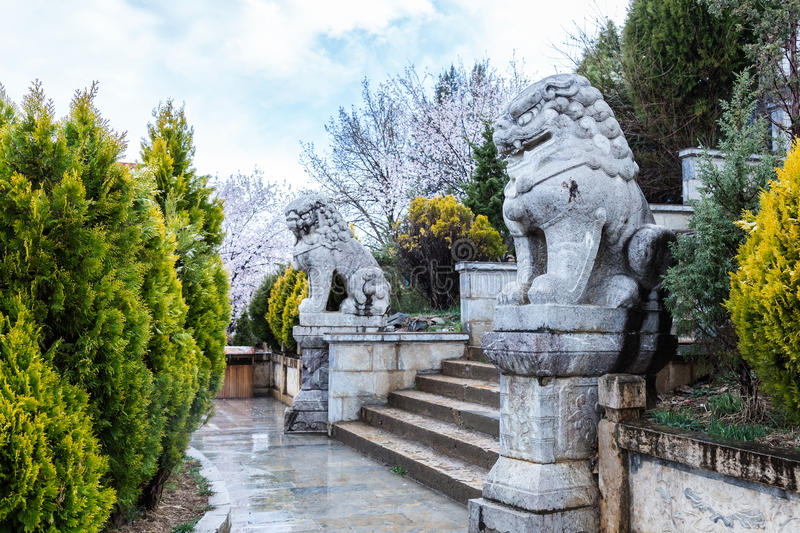 Download Ee Ka Stone Carving In The Garden AFTER RAINING Stock Photo    Image Of Religion