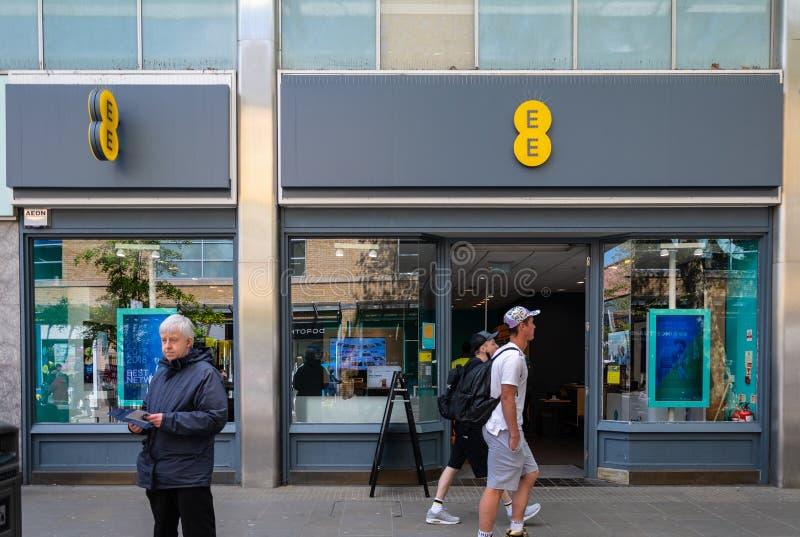 EE sklep Swindon zdjęcie royalty free