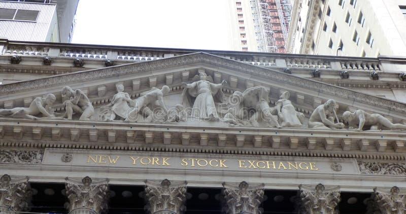 EE.UU. Nueva York Bolsa de acción Wall Street imagenes de archivo