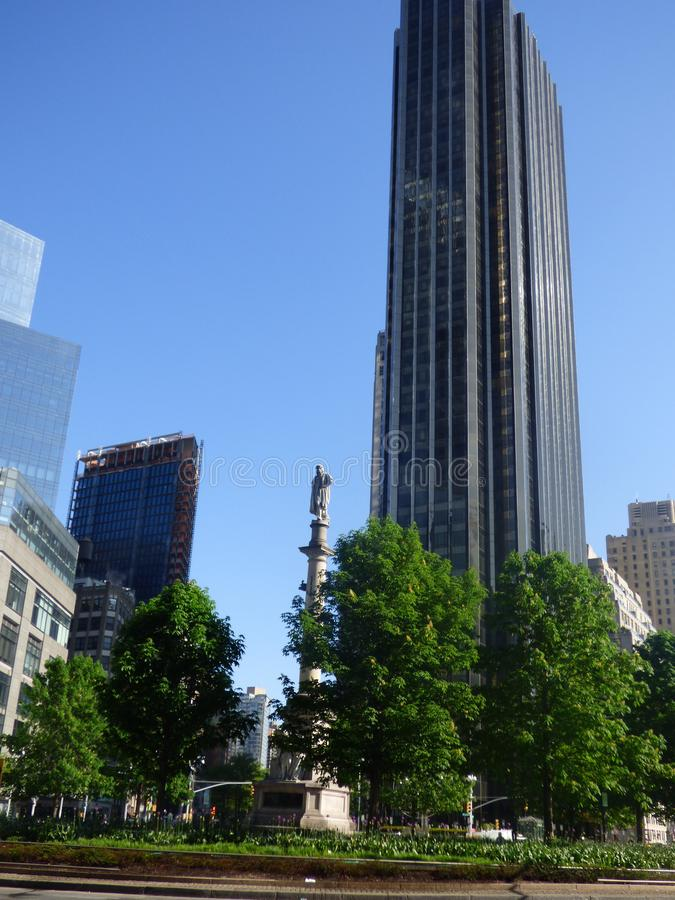 EE.UU. Nueva York Columbus Circle imágenes de archivo libres de regalías