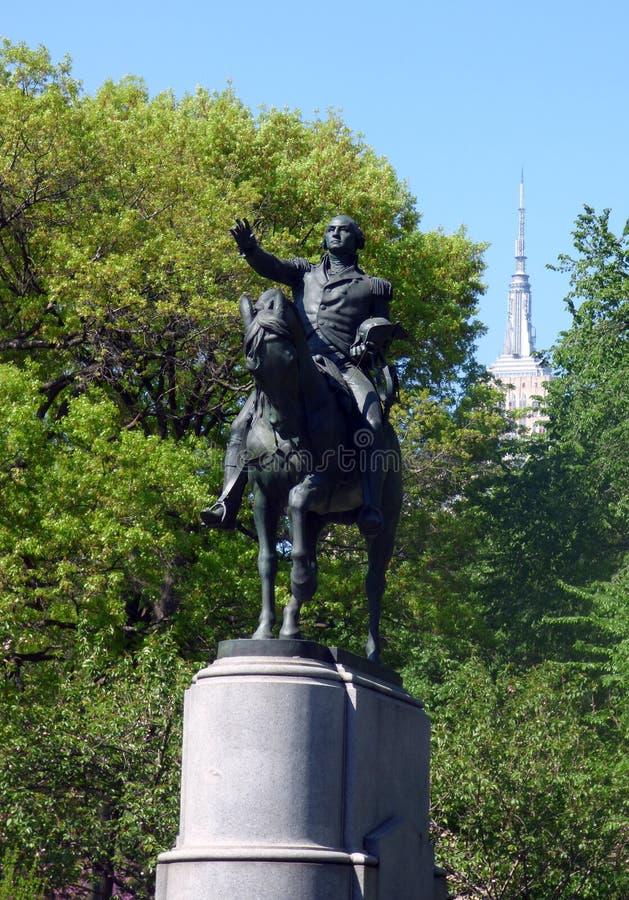 EE.UU. Nueva York Union Square Estatua de George Washington imagen de archivo libre de regalías