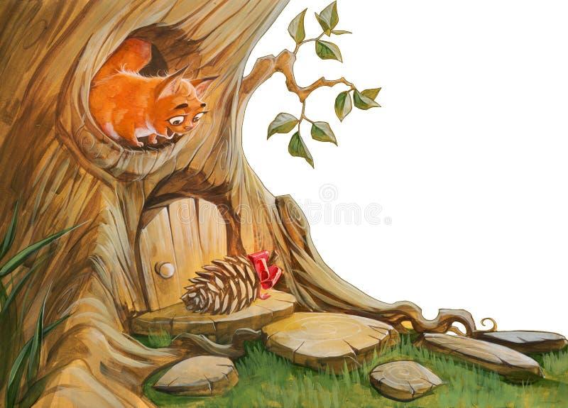 Eekhoornverjaardag vector illustratie