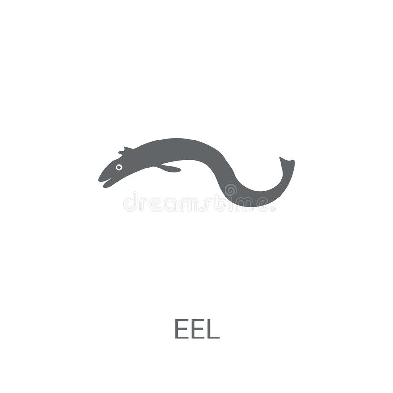Eel icon. Trendy Eel logo concept on white background from animals collection. Suitable for use on web apps, mobile apps and print media vector illustration