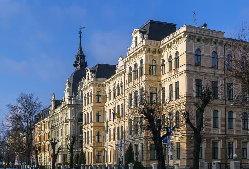 Eelizabetes ulica w Ryskim, Latvia obrazy stock