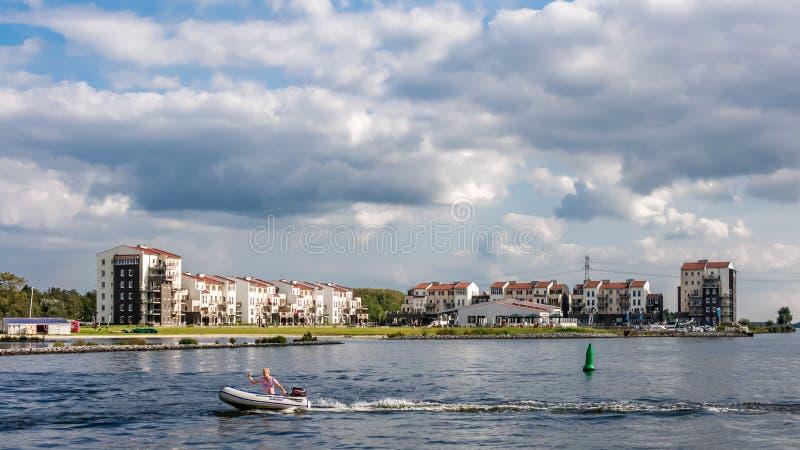 Eemhof度假胜地,泽沃德,荷兰 免版税库存图片
