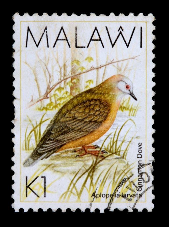 Een 1 kwachazegel die in Malawi wordt afgedrukt stock illustratie