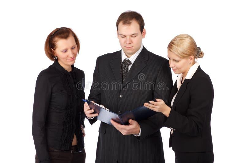Een aantrekkelijk, divers commercieel team stock afbeeldingen