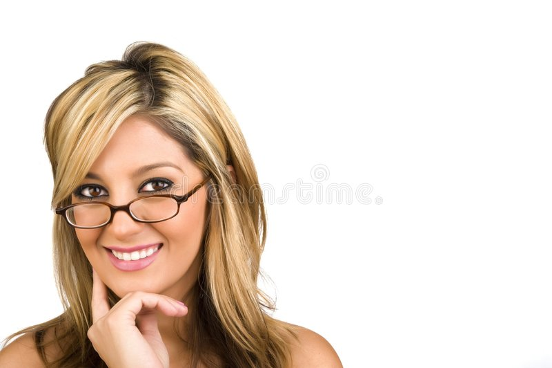 Een aantrekkelijke jonge bedrijfsvrouw royalty-vrije stock afbeelding