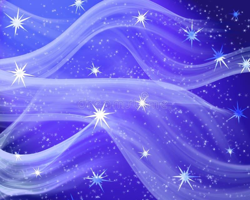 Een aardig blauw stergebied stock illustratie