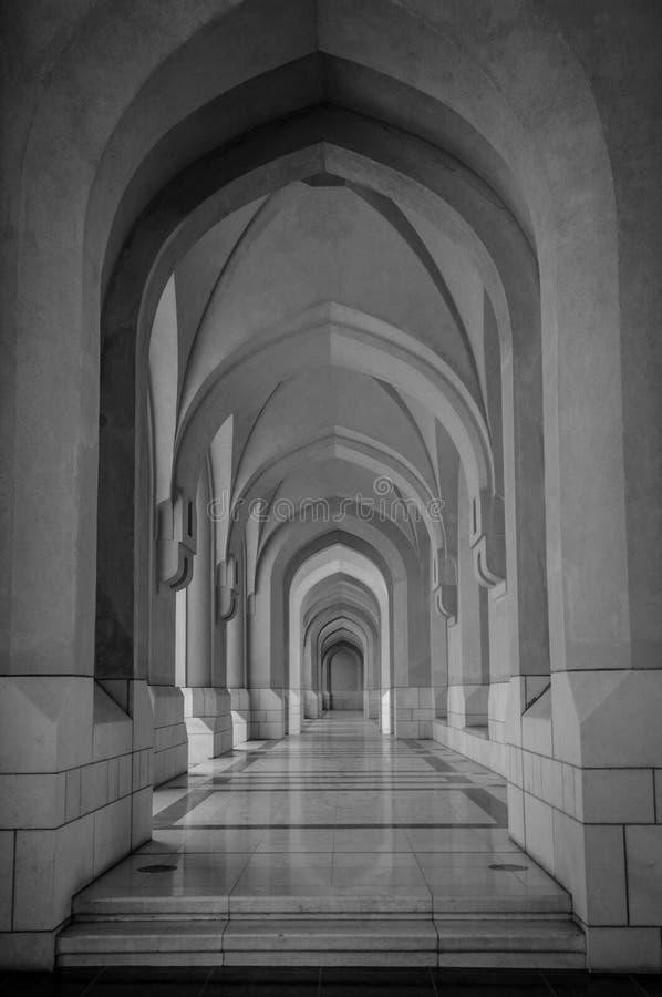 Een aardige geometrische vorm in mooi Oman, zuidendeel van de Arabische Emiraten stock foto's