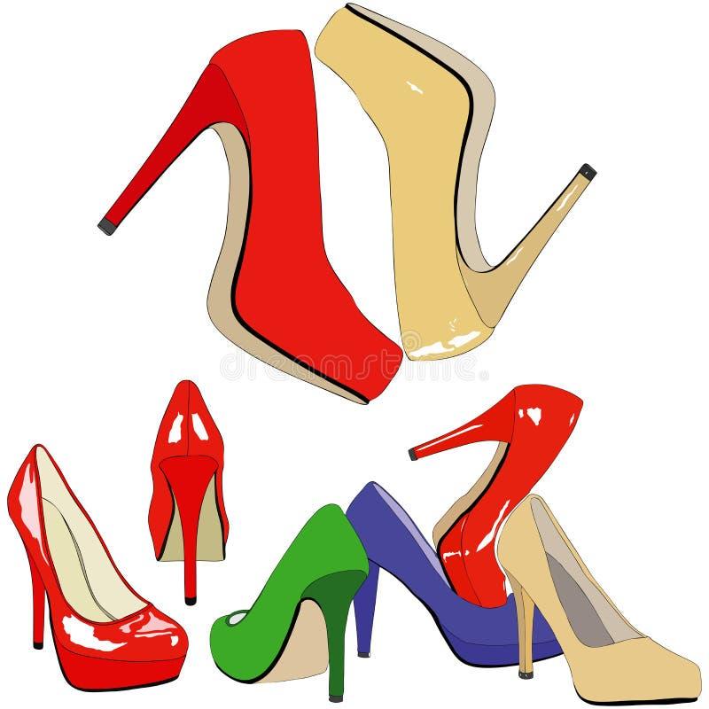 Een aardige schoenopslag stock illustratie