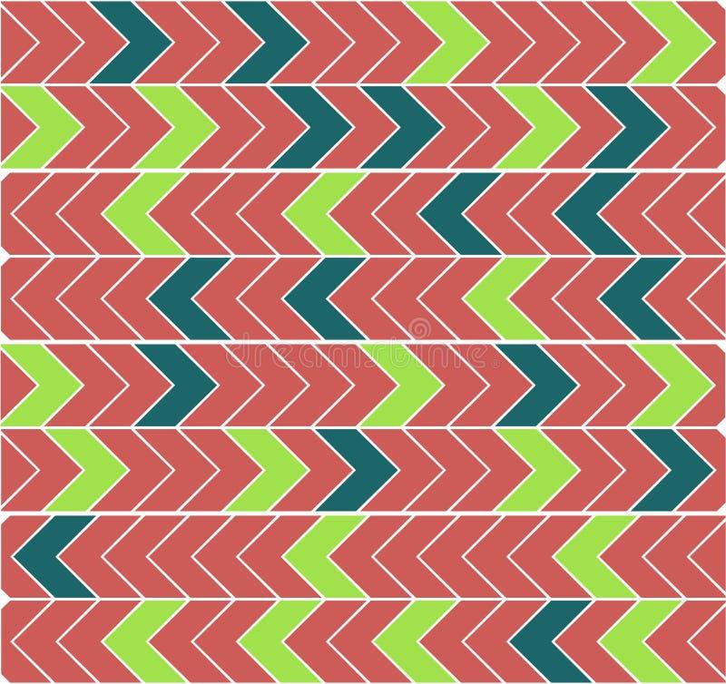 Een abstract beeld in de vorm van een cluster van horizontale wijzers, strak naast elkaar stock illustratie