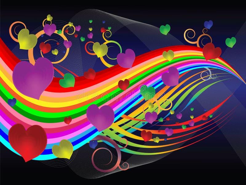 Een abstract liefdelied stock illustratie