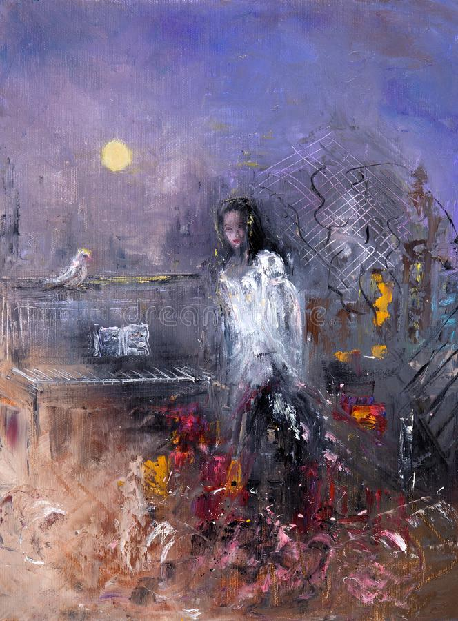 Een abstracte Vrouw stock illustratie