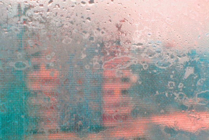 Een abstractie met een nat glas royalty-vrije stock afbeeldingen