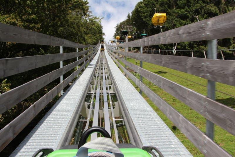 Een achtbaan, Steinwasen-Park, Duitsland royalty-vrije stock foto