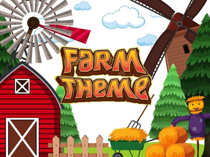 Een achtergrond van het landbouwbedrijfthema royalty-vrije illustratie