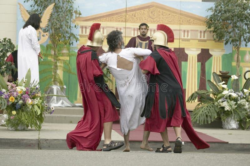 Een acteur die Jesus-Christus afbeeldt royalty-vrije stock foto's