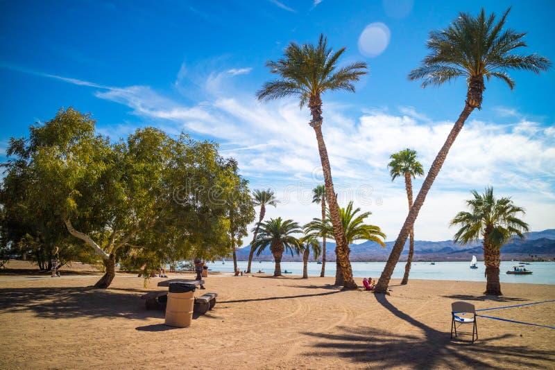 Een adembenemende mening bij Meer Havasu, Arizona royalty-vrije stock foto's