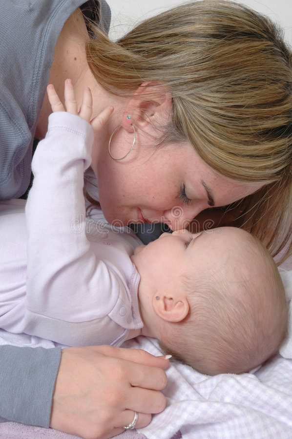 Een affectie van Moeders stock foto's
