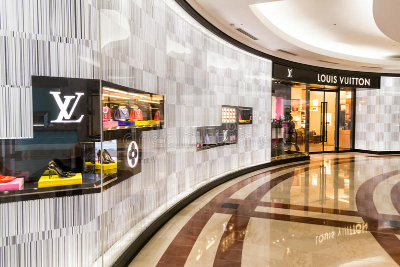 Een afzet van Louis Vuitton LV bij KLCC Kuala Lumpur royalty-vrije stock foto